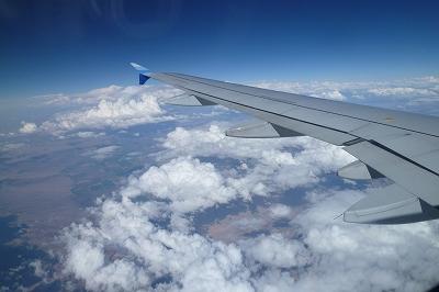 飛行機 上空