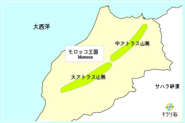 モロッコのアトラス山脈
